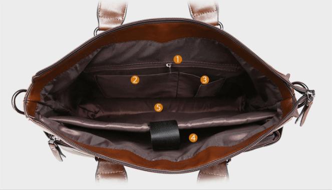 Cặp da nam đơn giản CDU01- Nhiều ngăn